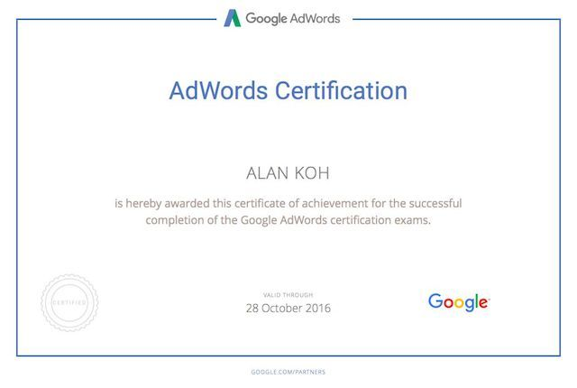 Certification-Google-Adwords