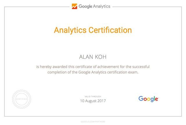 Certification-Google-Analytic