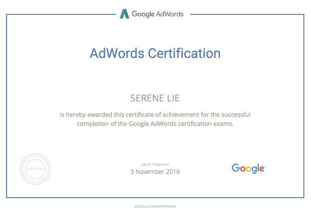 Google-Certification-Serene